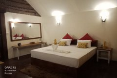 Royal Agonda Beach Cottages AC Sea View Premium Cottages Bedroom View Agonda Beach South Goa