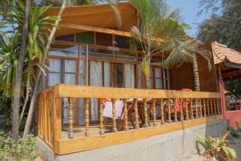 Salida Del Sol AC Superior Beachfront Hut Patnem Beach South Goa.
