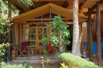 Salida Del Sol AC Garden View Hut Patnem Beach South Goa.