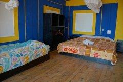 Salida Del Sol AC Superior Beachfront Hut Bedroom Patnem Beach South Goa.