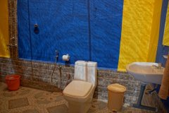 Salida Del Sol AC Superior Beachfront Hut Bathroom Patnem Beach South Goa.