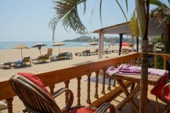 Salida Del Sol AC Superior Beachfront Hut Balcony Patnem Beach South Goa.