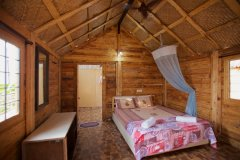 Rama Resort Agonda Beach, Goa - Wooden Huts Bedroom -