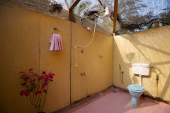 Rama Resort Agonda Beach, Goa - Wooden Huts Bathroom -