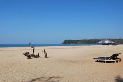 Shanti Agonda - The view north from Shanti Agonda in Agonda Beach, Goa