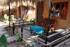 Shanti Agonda - The balcony of a cocoleaf beach hut at Shanti Agonda in Agonda Beach, Goa