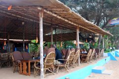 April 20 Resort  - The restaurant at April 20 beach resort in Patnem Beach, Goa