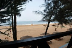 April 20 Resort  - The view from the balcony of one of the seaview beach huts at April 20 beach resort in Patnem Beach, Goa