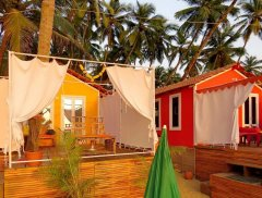 Art Resort Beachfront Cottages View Palolem Beach South Goa