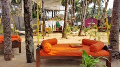 Art Resort View Of Sitting Area Palolem Beach Goa.