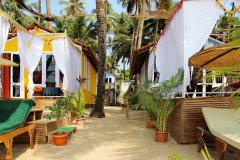 Art Resort View Of Cottages Palolem Beach Goa