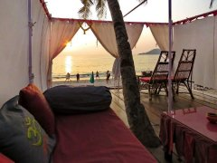 Art Resort Palolem View Of Beachfront Cottage Palolem Beach Goa