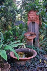 Bhakti Kutir  - A water feature in the gorgeous gardens at Bhakti Kutir in Colomb Bay, Goa