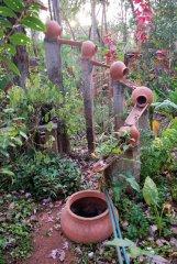 Bhakti Kutir  - A water feature in the beautiful gardens of Bhakti Kutir in Colomb Bay, Goa