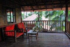 Bhakti Kutir  - A balcony of a cabana at Bhakti Kutir in Colomb Bay, Goa