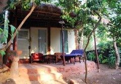 Bhakti Kutir  - One of the unique cabanas at Bhakti Kutir in Colomb Bay, Goa