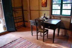 Bhakti Kutir  - An interior of one of the spacious and beautifully furnished cabanas at Bhakti Kutir in Colomb Bay, Goa