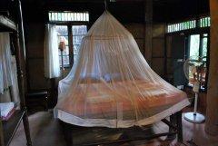 Bhakti Kutir  - The bedroom of one of the cabanas at Bhakti Kutir in Colomb Bay, Goa