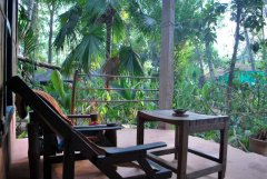 Bhakti Kutir  - A verandah of a cabana at Bhakti Kutir in Colomb Bay, Goa