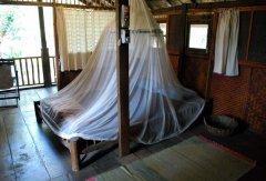 Bhakti Kutir  - The bedroom of a cabana at Bhakti Kutir in Colomb Bay, Goa