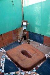 Bhakti Kutir  - An eco-friendly compost toilet in an open-air bathroom of a cabana at Bhakti Kutir in Colomb Bay, Goa