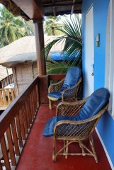 Casa Fiesta Resort  - A balcony of a beach hut on stilts at Casa Fiesta in Patnem Beach, Goa