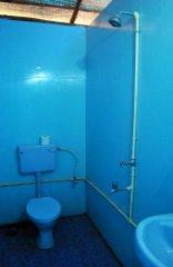 Casa Fiesta Resort  - The attached bathroom of a beach hut at Casa Fiesta on Patnem Beach, Goa