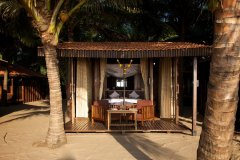 Dunhill Resort Agonda Beach View Of Luxury Beach Cabanas Waterfront