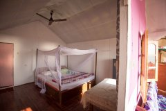 Funtastic Resort Patnem Beach, Beachfront Hut Bedroom