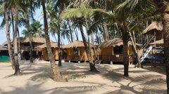 Hi-Tide Coco Huts The beach huts at Hi-Tide Coco Huts in Palolem Beach, Goa