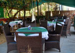 Mamoo's Place  - The lovely restaurant at Mamoo's Place in Patnem Beach, Goa