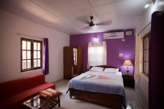 Namaste Resort Patnem Beach Deluxe AC Room Bedroom -