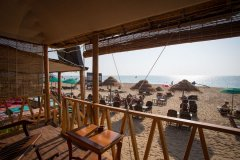 Namaste Resort Patnem Beach Sea Facing Hut Balcony View -