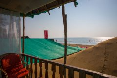 Namaste Resort Patnem Beach Sea View Hut View From The Balcony -