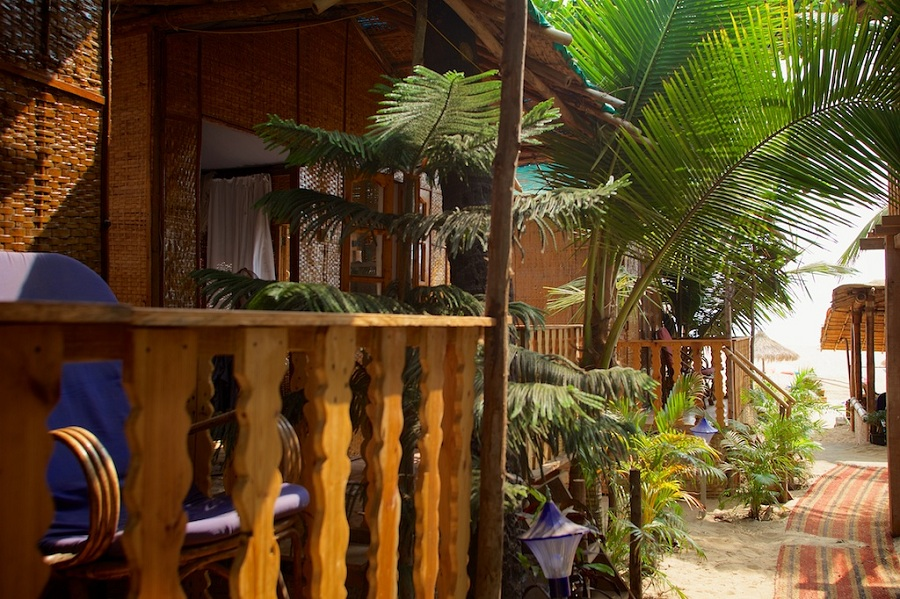 Tantra Cafe and Huts Patnem beach Standard Beach Huts Balcony View -