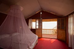 Tantra Cafe and Huts Patnem beach Beachfront Hut Bedroom -