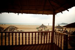 Tantra Cafe and Huts Patnem beach Beachfront Hut Balcony View -