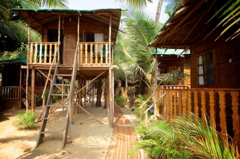 Tantra Cafe and Huts Patnem beach Coconut Beach Hut -