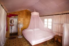 Tantra Cafe and Huts Patnem beach Coconut Beach Hut Bedroom -