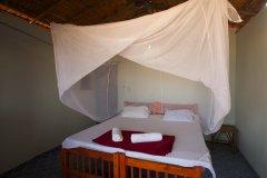 OM Shanti Resort, Patnem beach - Sea Facing Beach Hut Bedroom.