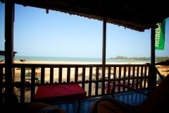 OM Shanti Resort, Patnem beach - Sea Facing Beach Hut. Balcony View -