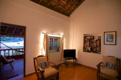 Colomb Bay Beach House - View of the living room of Colomb bay beach house on colomb beach,Goa.