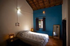 Colomb Bay Beach House - Master bedroom of colomb bay beach house on colomb beach,Goa