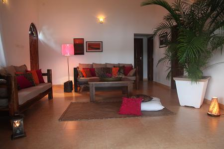 goa beach holidays goa bhk living room   Riverview Villa is a Goa honeymoon holiday one-of-a-kind ...