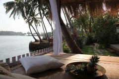 Riverview Villa Back Side Chill Out Area Rajbaga Beach South Goa. -