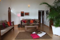 Riverview Villa Living Room Rajbaga Beach South Goa.