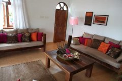 Riverview Villa Living Room Rajbaga Beach South Goa. -
