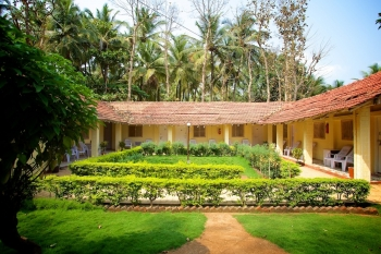 Palolem Beach Resort - Non AC Garden View Rooms  of palolem beach resort on palolem beach,Goa -