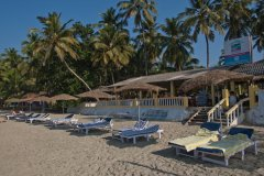 Palolem Beach Resort - View of the resort from the beach . -