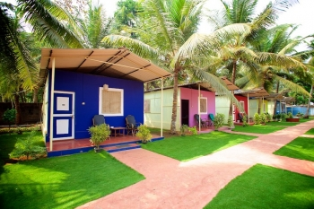 Palolem Beach Resort - Non AC Cottages  of palolem beach resort on palolem beach,Goa -